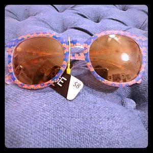 Pink and Blue Tribal Sunglasses